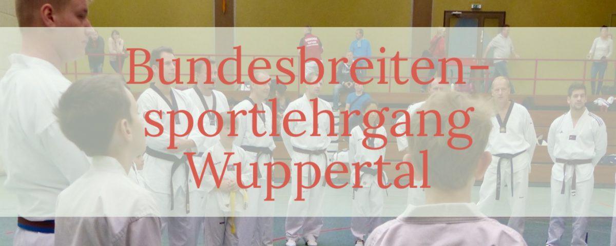 Bundesbreitensportlehrgang Wuppertal 2016